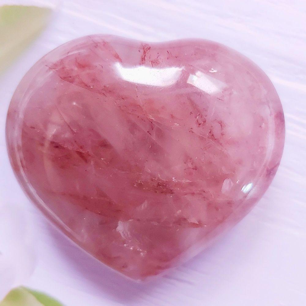 Natural Hematoid Quartz Heart ( also known as Fire Quartz)