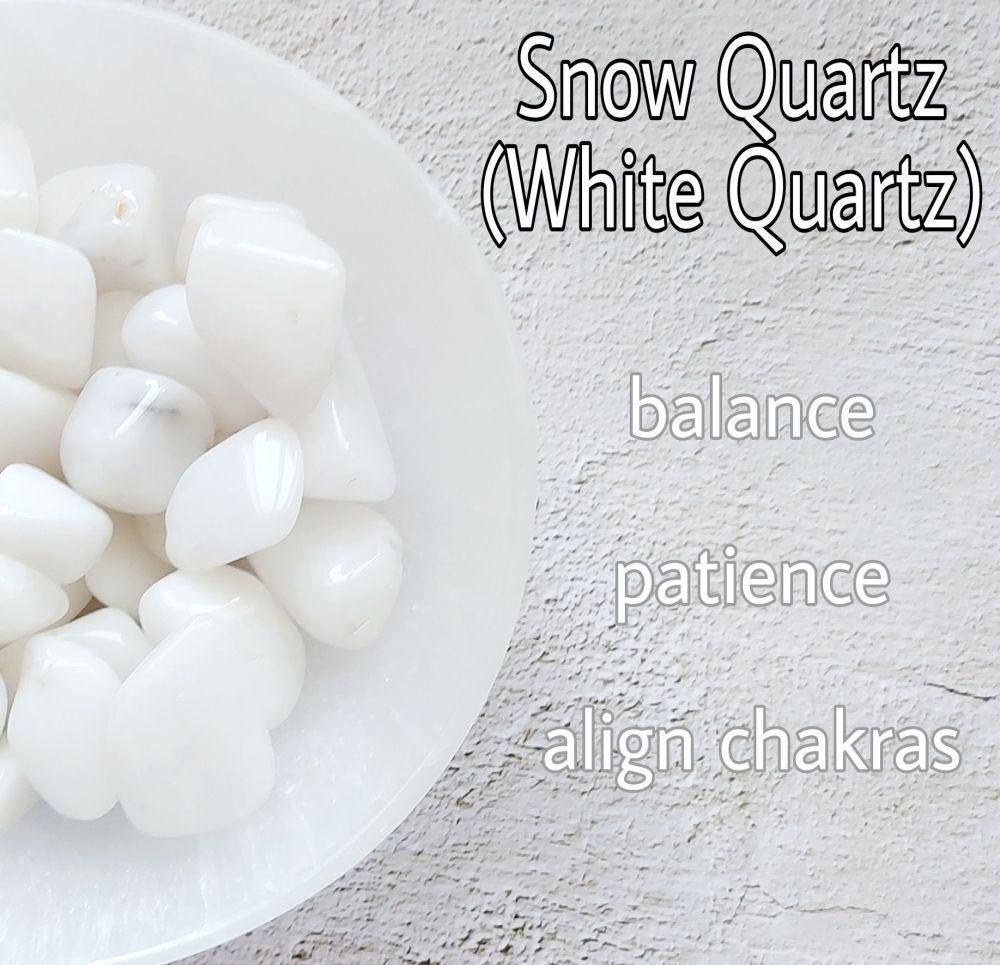 White Quartz Tumblestone