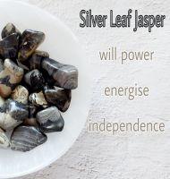 Silver Leaf Jasper Tumblestone