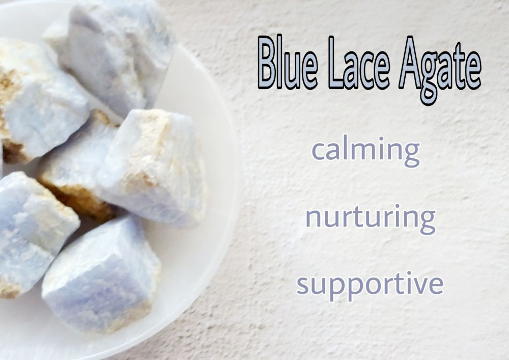 Blue Lace Agate rough - Calm