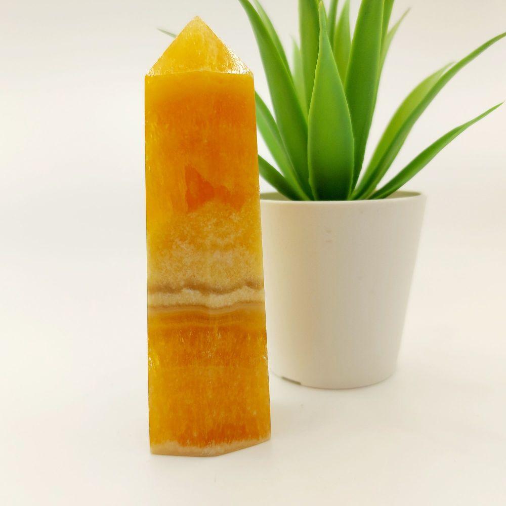 Orange Calcite Tower - Self Confidence