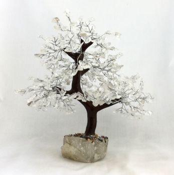 Clear Quartz Gemstone Tree with 500 gems