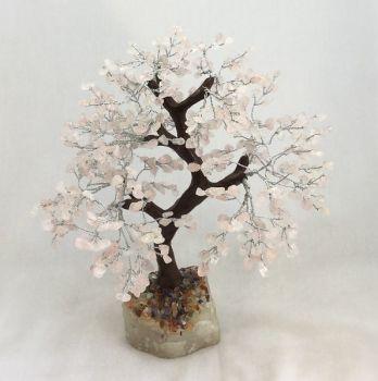 Rose Quartz Gemstone Tree with 500 stones