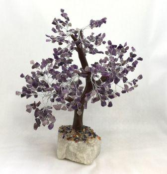 Large Amethyst Gemstone Tree with 500 stones