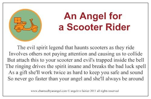 An Angel for a Scooter Rider
