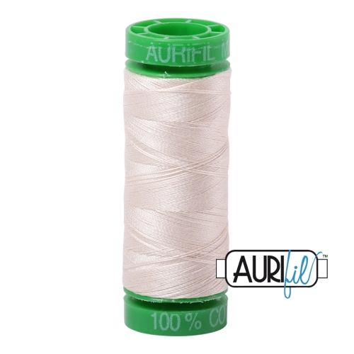 Small Spool 200m 40 WT - Aurifil Thread 2000 - Sand (Green Spool)