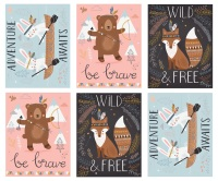 Wild and Free by Abi Hall for Moda - Panel