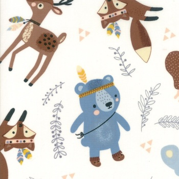 Wild and Free by Abi Hall for Moda - Woodland Critters - Cloud