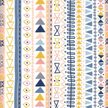 Wild and Free by Abi Hall for Moda - Tribal Stripe - Cloud