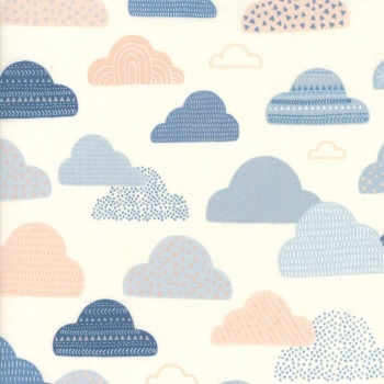 Wild and Free by Abi Hall for Moda - Cloudy Sky's - Natural