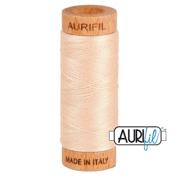 Aurifil Thread 2315 80 WT Peach - 274m Small Wooden Spool
