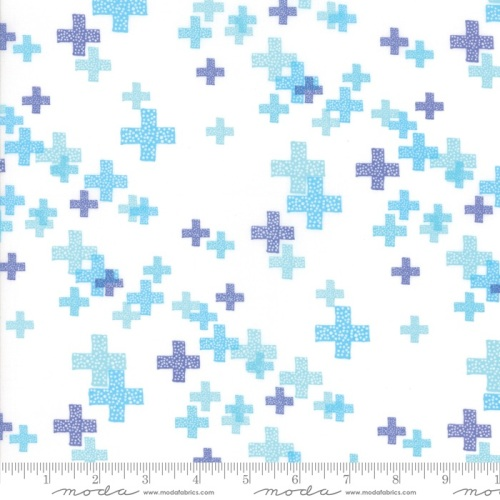 Modern Backgrounds Colorbox - Geometric Pluses (White Periwinkle) 1644 13