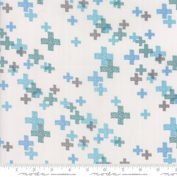 Modern Backgrounds Colorbox - Geometric Pluses (Fog Teal) 1644 15