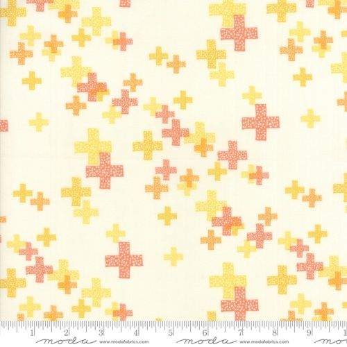 Modern Backgrounds Colorbox - Geometric Pluses (Porcelain Clementine) 1644