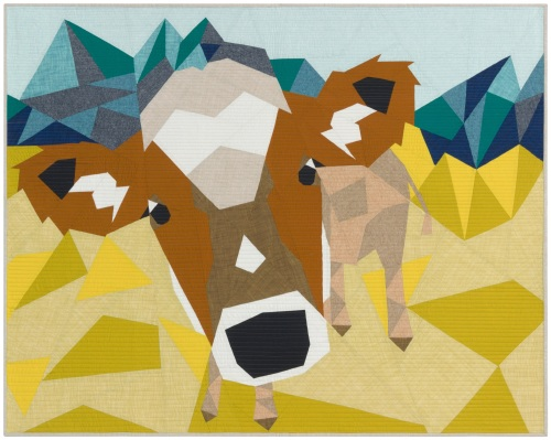 Violet Craft  - The Cow Abstractions Quilt Pattern.