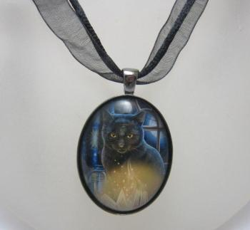 Bewitched glass cabochon necklace by Lisa Parker