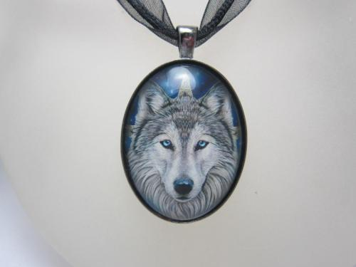 Wild One glass cabochon necklace by Lisa Parker