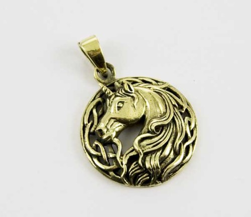 Bronze Unicorn pendant by Lisa Parker