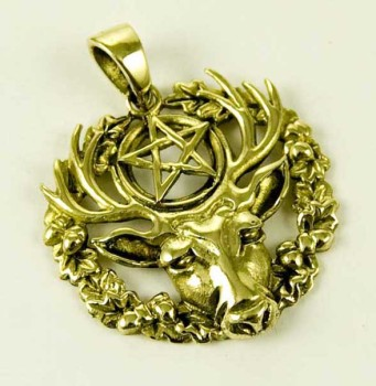 Hart of The Wildwood pendant by Lisa Parker - bronze