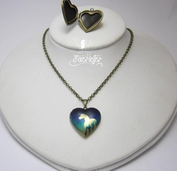 The Unicorn Heart locket