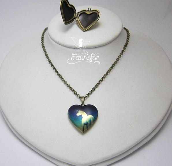 The Unicorn Heart locket