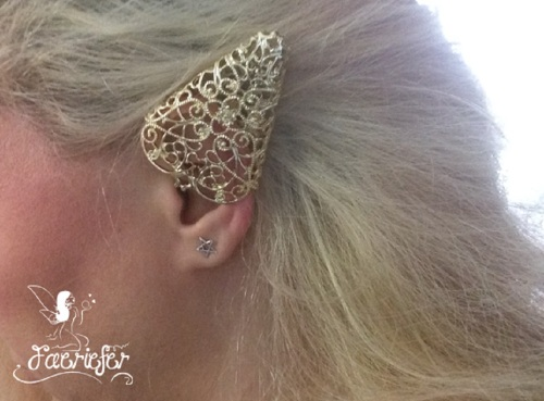 Golden Elven Faerie Ear Tip