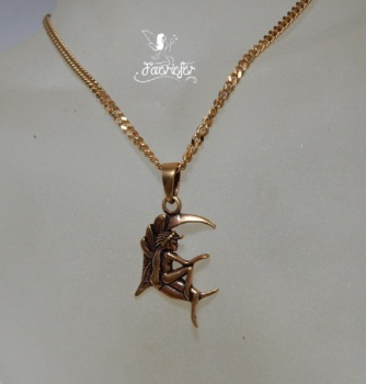 Bronze Moon Fairy Necklace