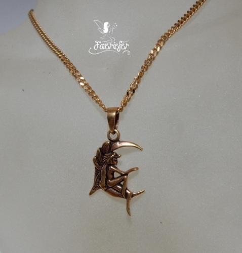 Bronze Moon Fairy Necklace