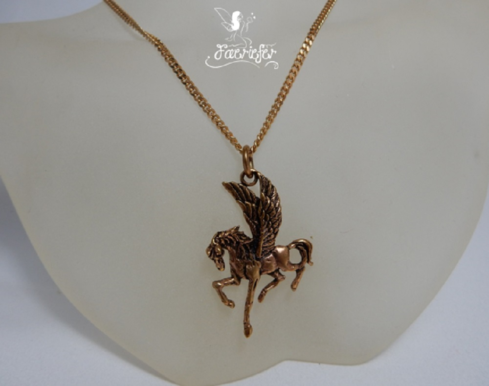 Bronze Pegasus Necklace