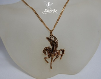 Pegasus Necklace - Bronze