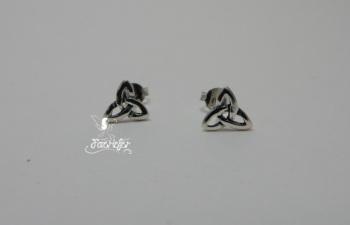 Triquetra cut Earrings Sterling silver