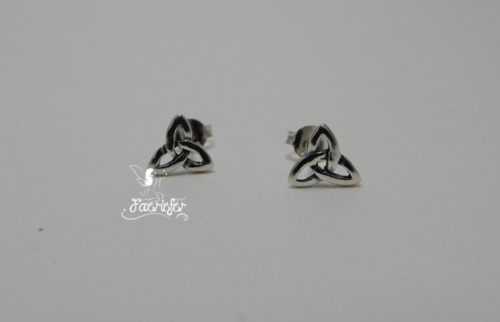 Sterling silver Triquetra cut Earrings