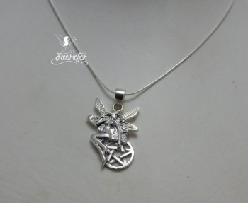 Fairy Protection pentagram necklace in sterling silver