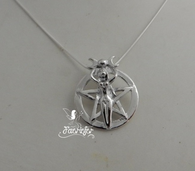 Moon Goddess Pentagram necklace