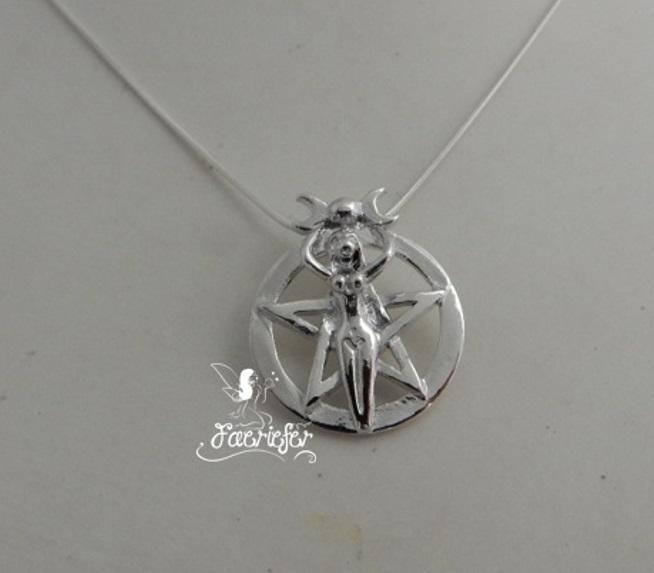 Moon Goddess Pentagram necklace