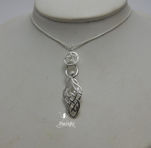 Celtic Goddess Pentagram necklace