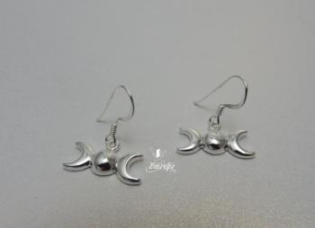 Triple Moon drop Earrings