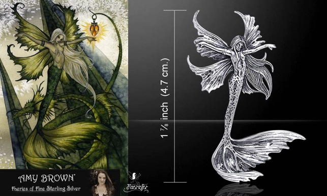Sea Sprite Fairy Pendant by Amy Brown fantasy fairy artist