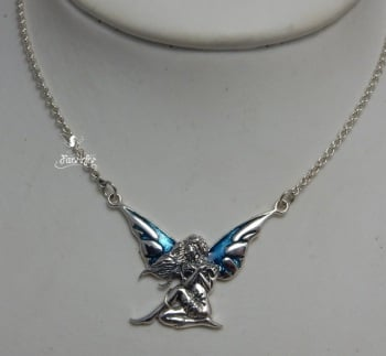Dark Wings Fairy Necklace by Jessica Galbreth
