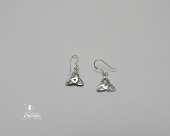 Celtic triangle triquetra earrings sterling silver