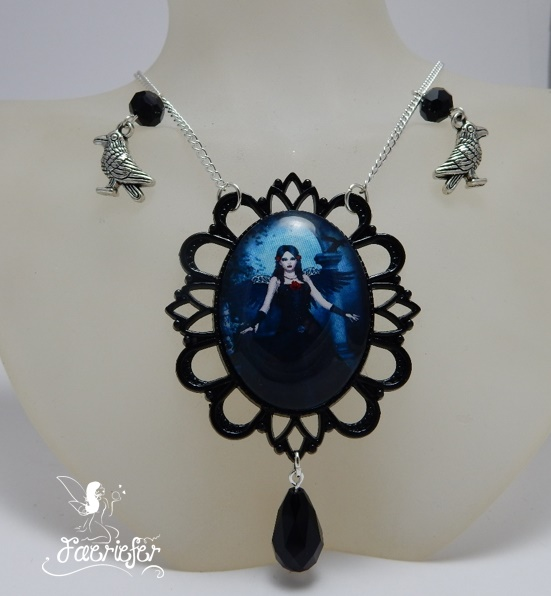 Mistress Of The Black Raven necklace