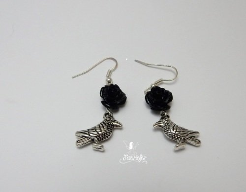 Raven and The Rose Earrings