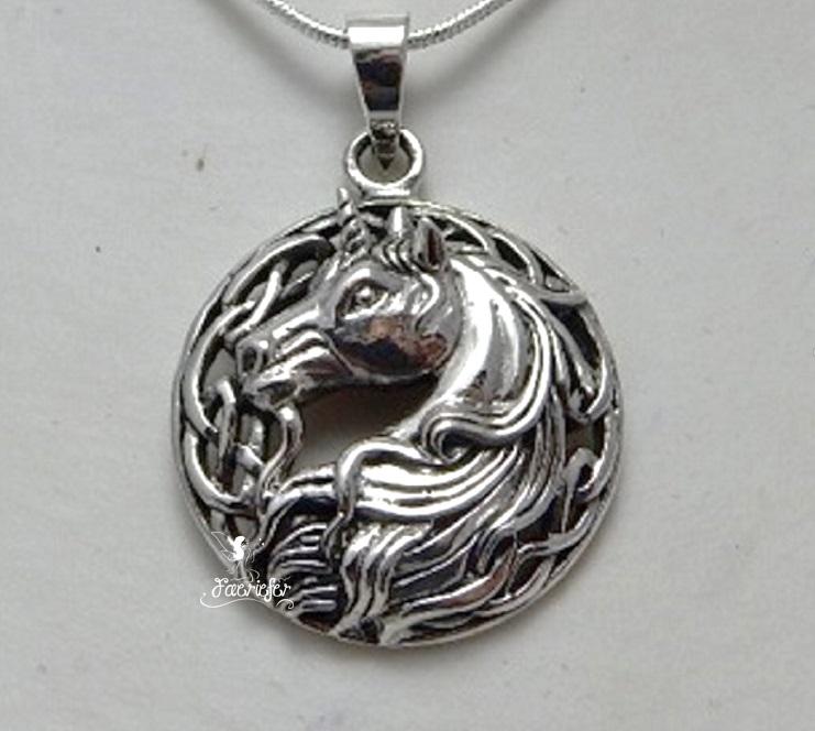 Silver Unicorn necklace by Lisa Parker