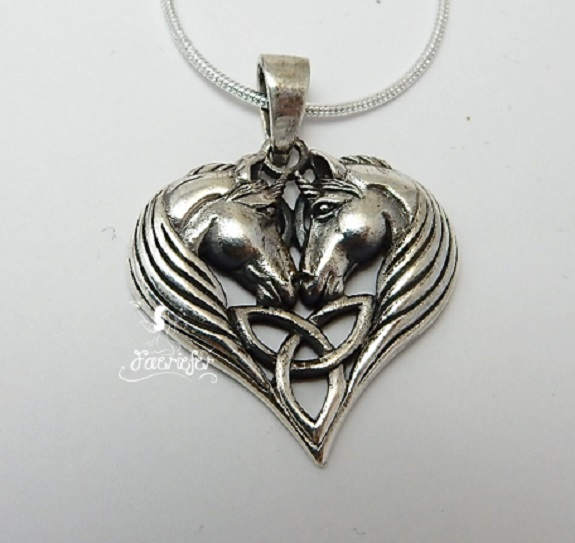 Unicorn Hearts necklace by Lisa Parker