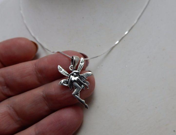 Silver Fairy Necklace lightweight