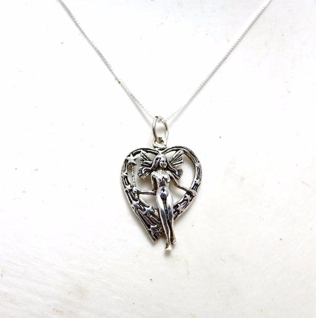 Wishing Wand Heart Fairy Necklace