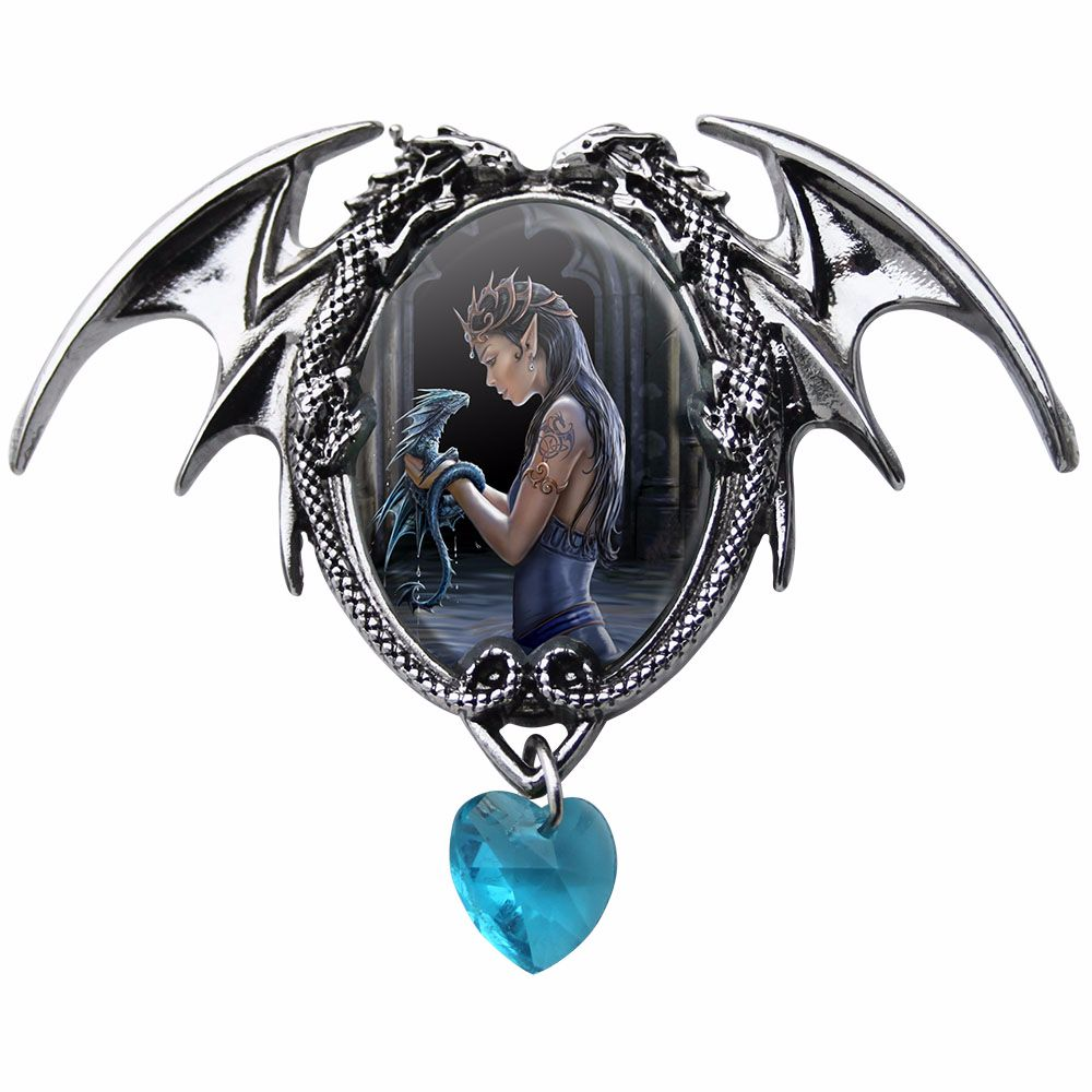 Anne Stokes Necklace Water Dragon