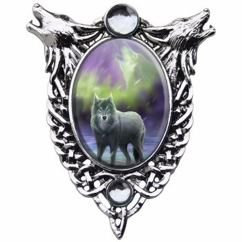Anne Stokes Necklace Aura Wolf