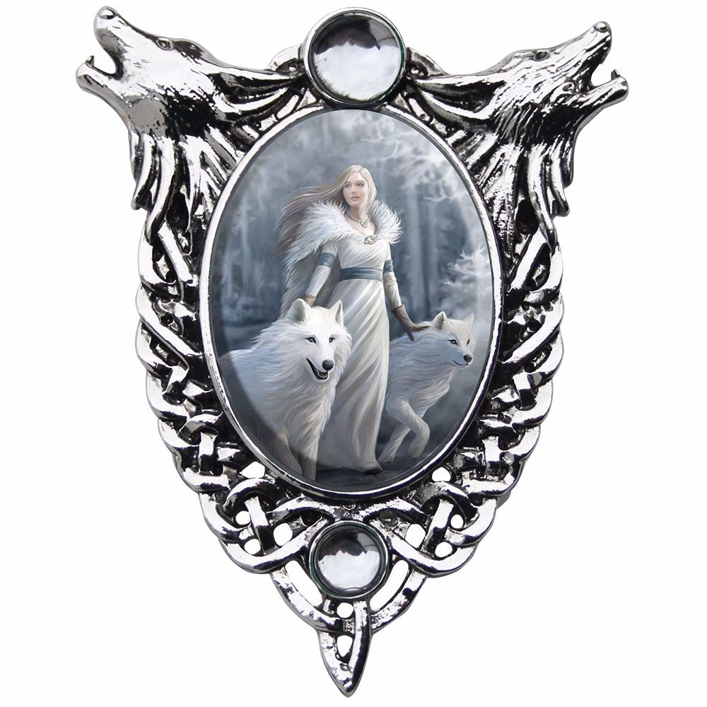 Anne Stokes Necklace Winter Guardians
