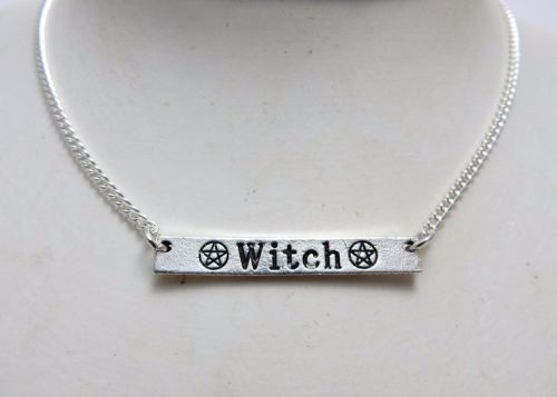 Witch Bar Pendant Necklace